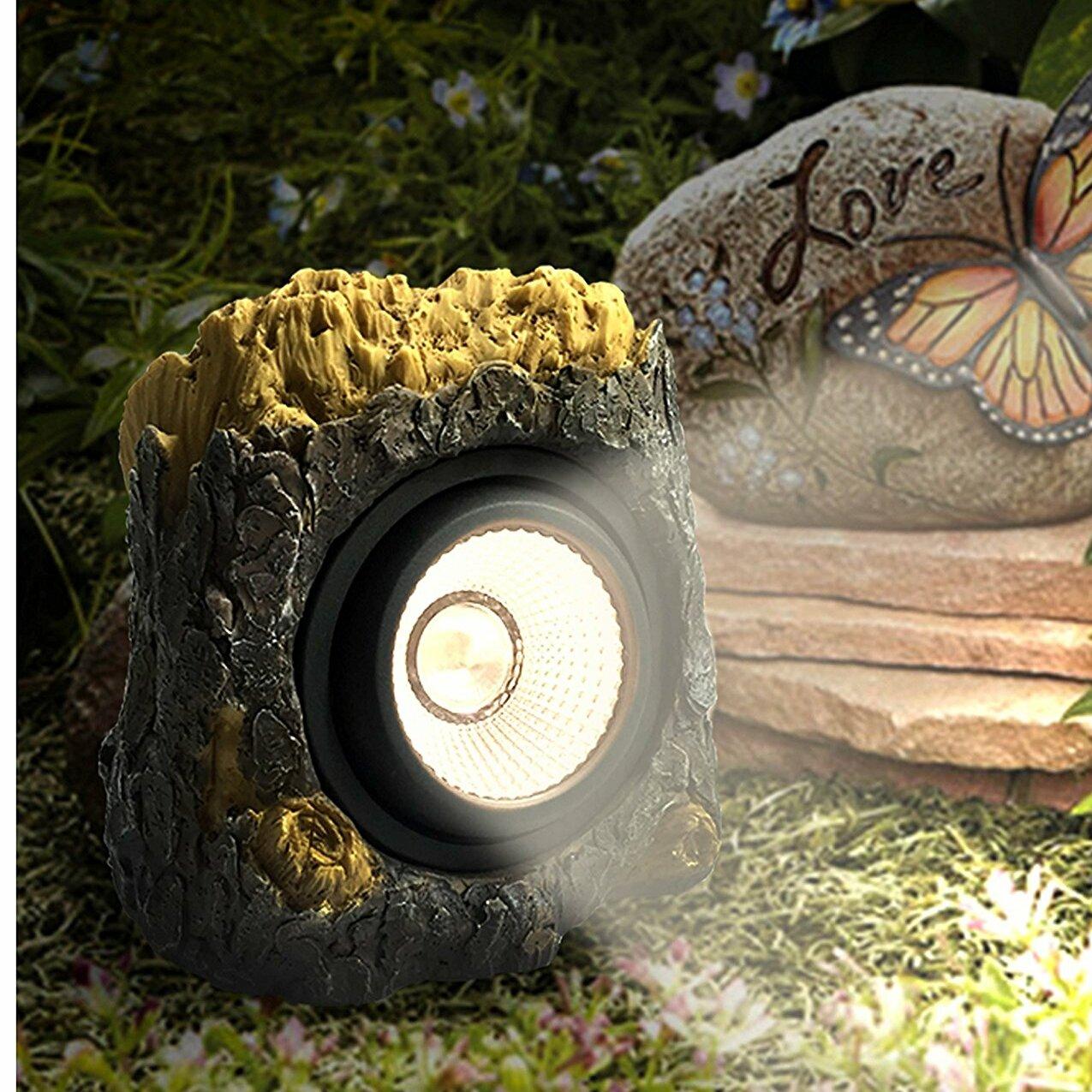 Myfuncorp 6 Solar Powered Garden Solar Rock Lights Outdoor Colour Changing Tree Bark Reviews Wayfair Ca