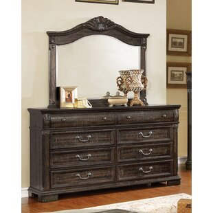 Mable 8 Drawer Double Dresser with Mirror