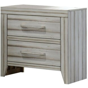 Radcliff Wood 2 Drawer Nightstand by Breakwater Bay