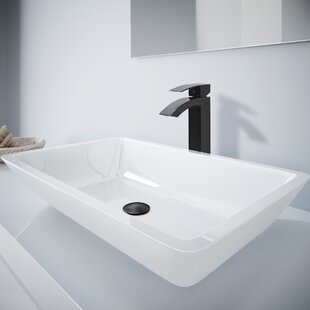 Affordable Price Phoenix Stone Rectangular Vessel Bathroom Sink with Faucet By VIGO