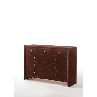 Alcott Hill Damian Wooden 9 Drawer Double..