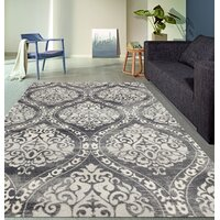 Deals on Demonte Charcoal Gray Area Rug