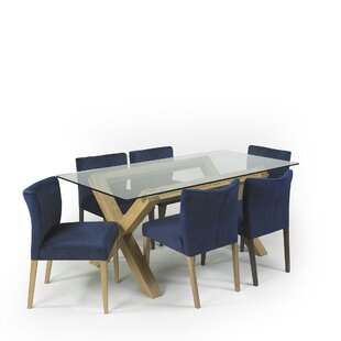 Caserta Dining Set With 7 Chairs By Ebern Designs