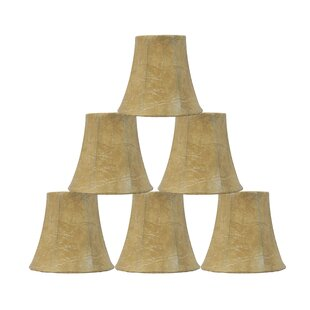 5 Faux Leather Bell Candelabra Shade (Set of 6)