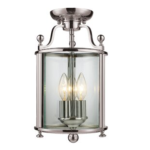 Lucah 3-Light Semi-Flush Mount by Darby Home Co
