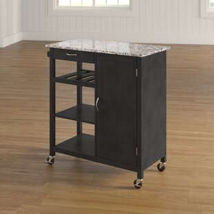 Auden Kitchen Cart with Faux Marble Top Red Barrel Studio