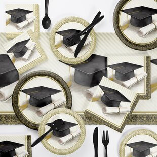 Classic Graduation Paper Disposable Dessert Plate By Creative Converting