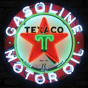Texaco Gasoline Neon Sign by Neonetics
