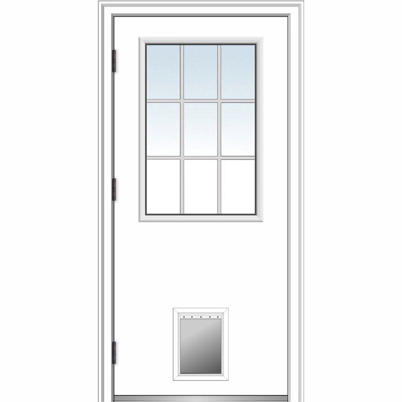 Verona Home Design Smooth Primed Fiberglass Prehung Front Entry Door Wayfair