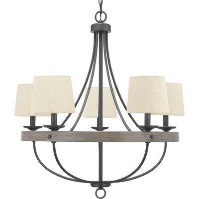 17 Stories Emaria 5 Light Candle Style Chandelier Finish Graphite