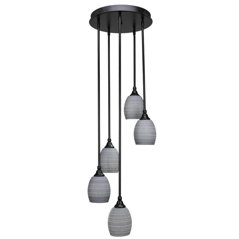 Ebern Designs Shamar 5 Light Cluster Bell Pendant Wayfair