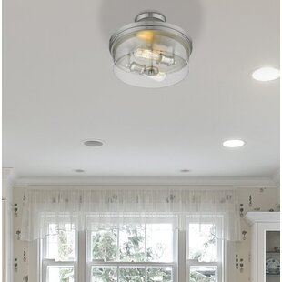 Leboeuf 2-Light Semi Flush Mount by Breakwater Bay