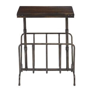 Refugio Industrial Magazine End Table by Williston Forge