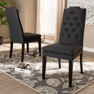 Masonic Upholstered Dining Chair (Set of 2) Alcott Hill