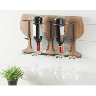 Paulson 5 Bottle Wall Mounted Rack by Win..