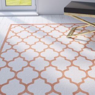 Maritza Power Loomed Beige/Orange Indoor/Outdoor Area Rug