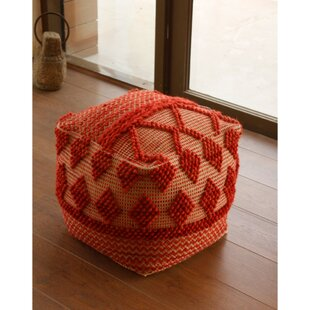 Plimpton Upholstered Pouf by Union Rustic