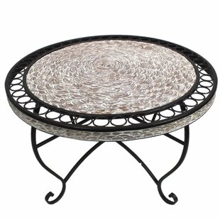 August Grove Merkel Round Metal Coffee Table