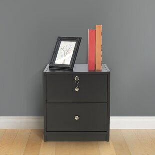 Thilbeault 2 Drawer Bedside Table By Ebern Designs