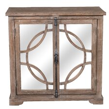 Loucas 2 Door Mirrored Cabinet by One Allium Way