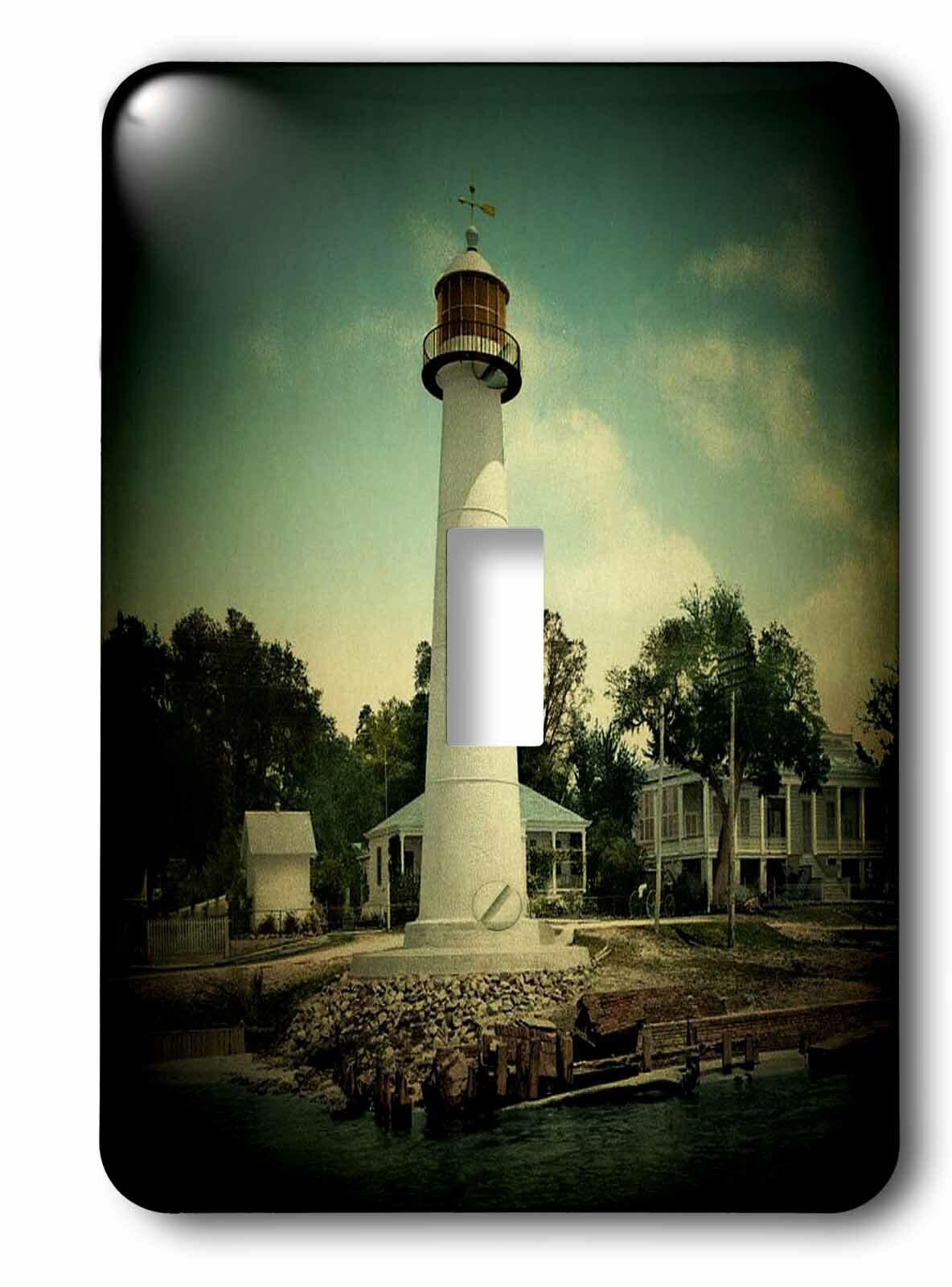 3drose 1901 Biloxi Lighthouse Spotlight Toggle Light Switch Wayfair