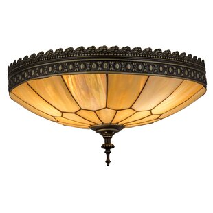 Astoria Grand Norsworthy Honeycomb 3-Light Flush Mount