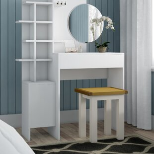 Huguley Dressing Table With Mirror By Brayden Studio