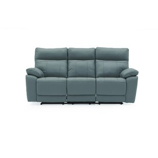 Paineville Leather 3 Seater Reclining Sofa By 17 Stories
