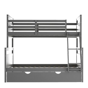 Twin Over Full Bunk Bed With Twin Size TrundleWhite