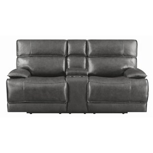 Shop Caughfield Leather Reclining Loveseat by Latitude Run
