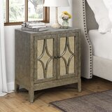 Evander Modern Glam Nightstand by Ophelia & Co.