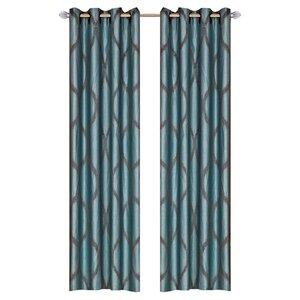 Pruitt Geometric Sheer Grommet Curtain Panels (Set of 2)
