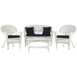 Cecilton 4 Piece Sofa Set with Cushions