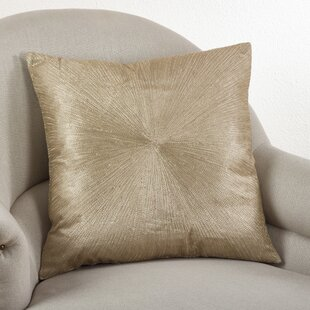 Shimmering Starburst Cotton Throw Pillow
