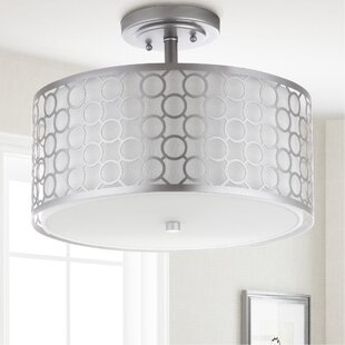 Torpoint Circle Trellis 3 Light Dia Semi Flush Mount by Mercer41