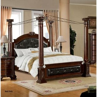 Cecille Tufted Upholstered Canopy Bed by Fleur De Lis Living