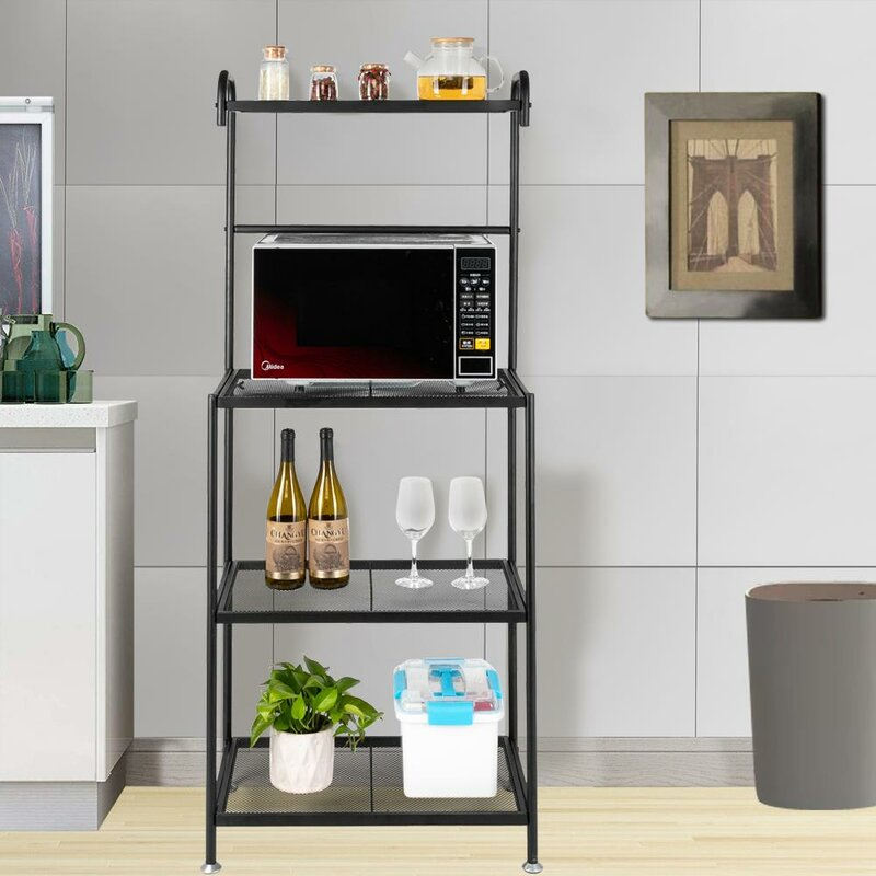 17 Stories Nawrocki 23.5'' Steel Standard Baker's Rack with Microwave Compatibility