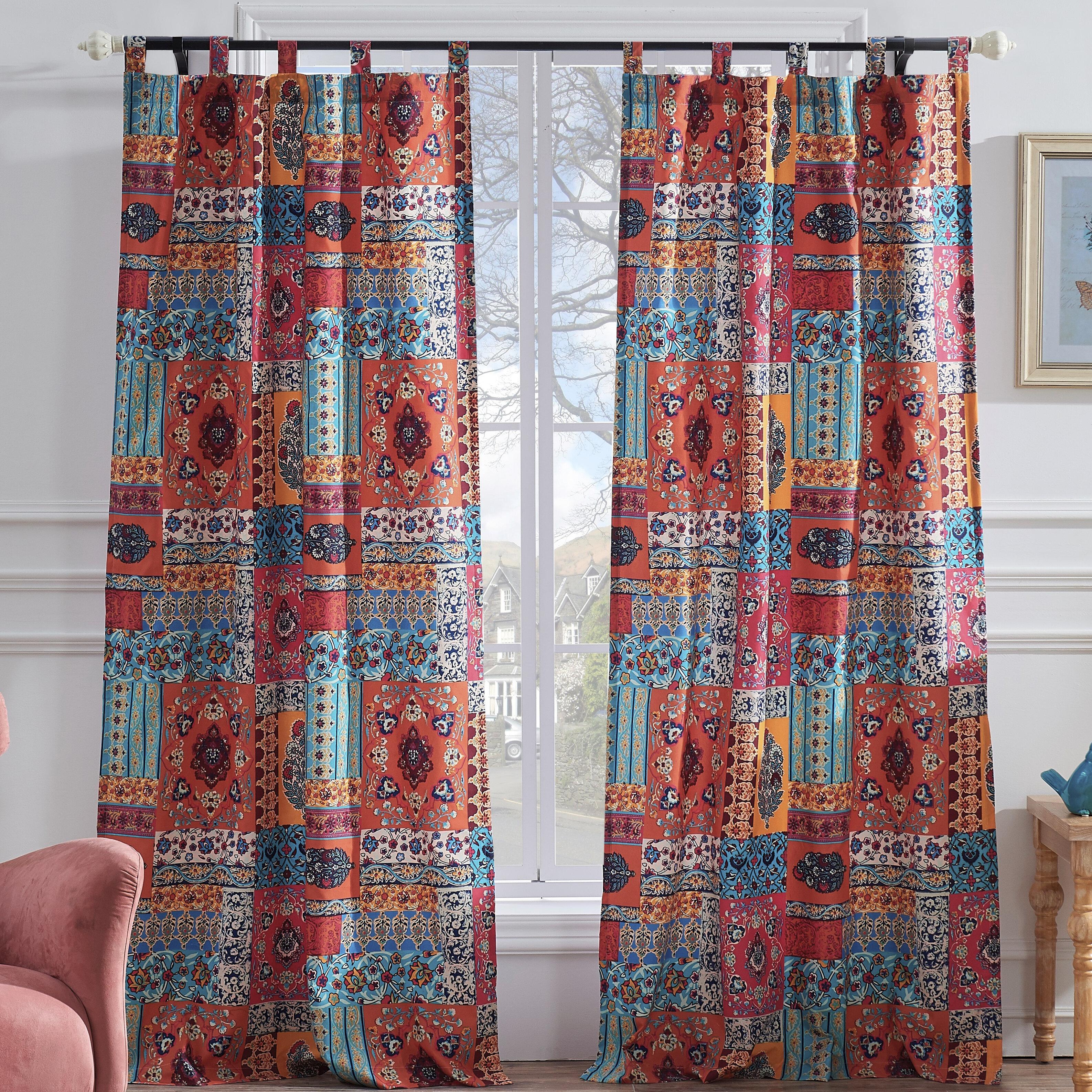 World Menagerie Sawyers Floral Semi Sheer Curtains Reviews Wayfair