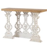 Berthiaume Console Table - Weathered White by Ophelia & Co.