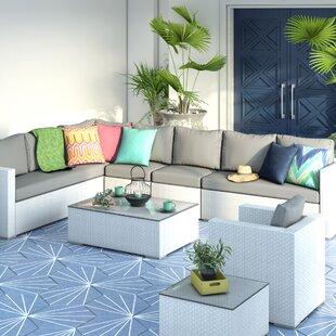 Ventura 8 Seater Rattan Sofa Set By Sol 72 Outdoor