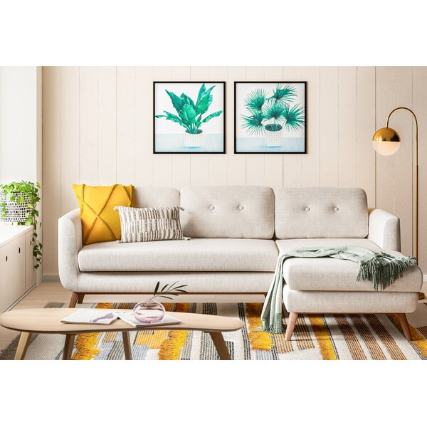 Modern Contemporary Loveseat With Chaise Allmodern