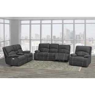 Allistair 3 Piece Reclining Living Room Set by Red Barrel Studio