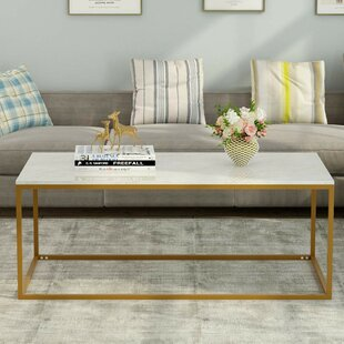 Werner Marble Top Coffee Table by Mercer41