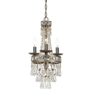 Astoria Grand Markenfield 4-Light Crystal Chandelier