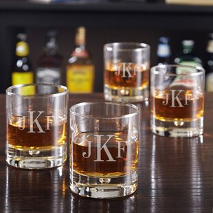 Bryne Personalized 10 oz. Cocktail Glasses (Set of 4)