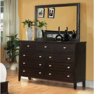 Newton 9 Drawer Dresser with Mirror by Fairfax Home Collections