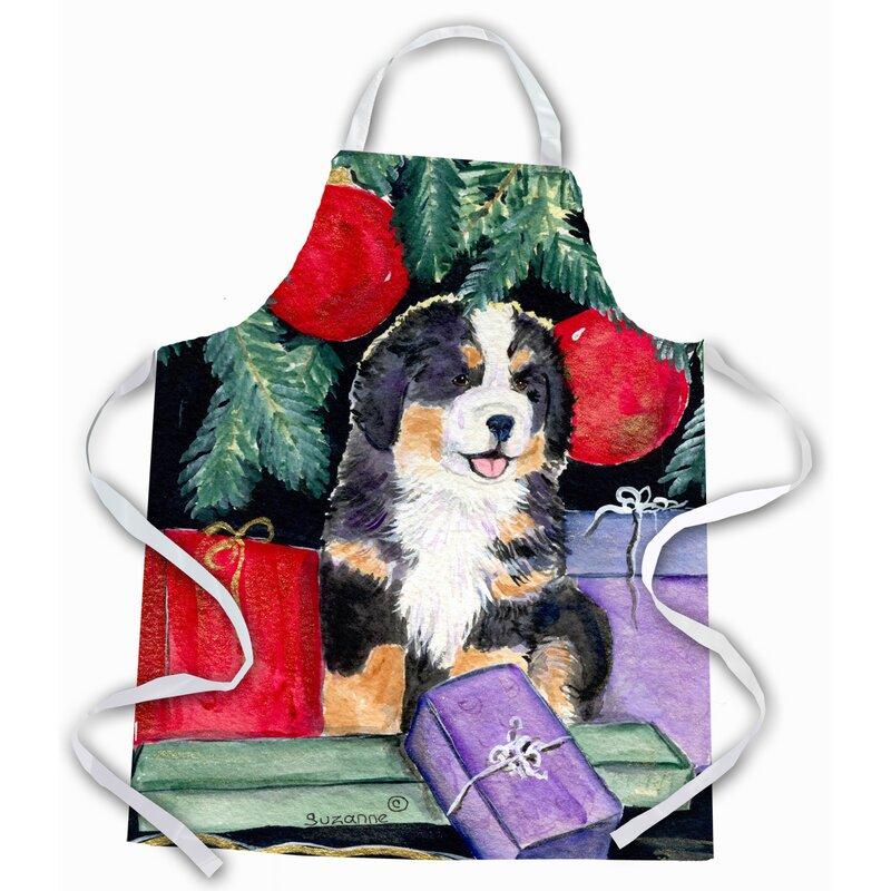 The Holiday Aisle Bernese Mountain Dog Apron Wayfair