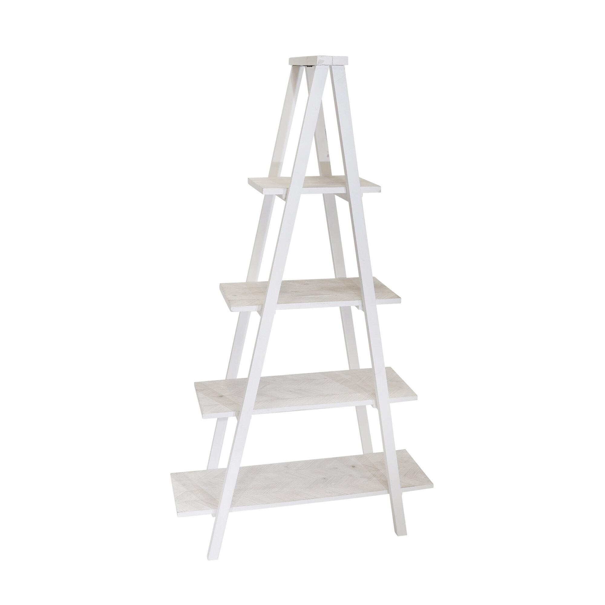 Prickett Wood 4 Shelf Ladder Bookcase