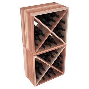 Karnes Redwood X-Cube 48 Bottle Floor Wine Rack by Red Barrel Studio