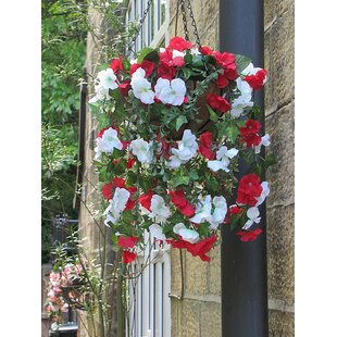 Outdoor Artificial Flowering Plant In Basket By The Seasonal Aisle